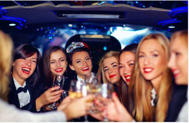 A night out on the town with friends provided by Green Bay Party Bus Rentals