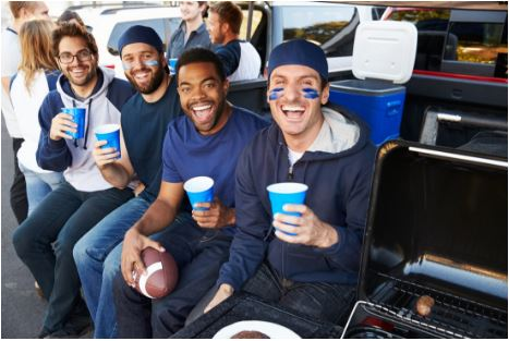 Tailgating at the Green Bay Packers game on a Party Bus