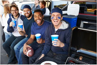 Tailgating party bus